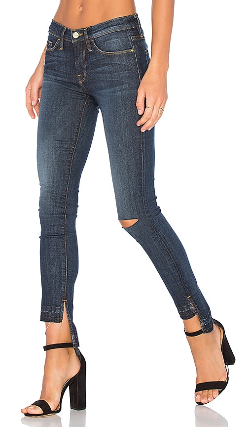 FRAME Denim Le Skinny De Jeanne Unravel Hem in Anchorage