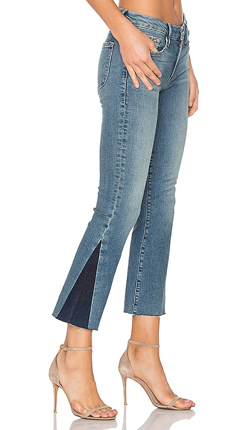 FRAME Denim Le Crop Mini Unfinished Hem Boot in Austin