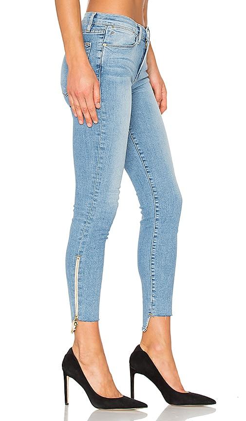 FRAME Denim Le High Skinny Stagger Zip in Jackson