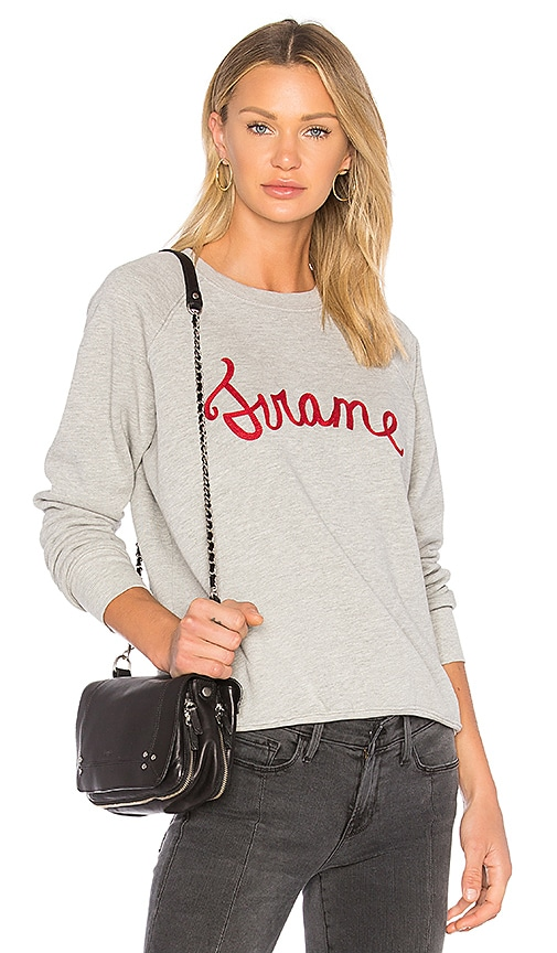 FRAME Denim Old School Sweatshirt in Gray