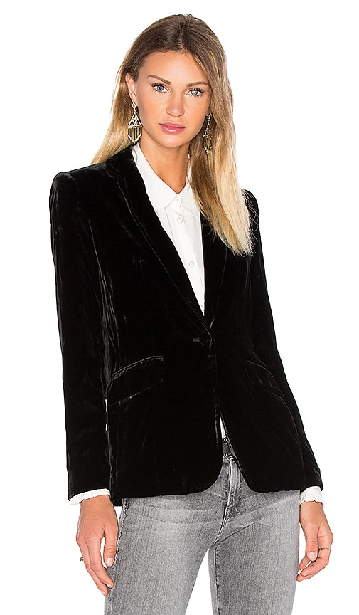FRAME Denim Le Velvet Blazer in Black