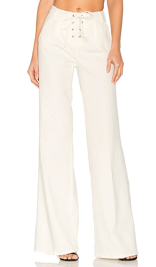 FRAME Denim Le Capri Lace Up Pant in White