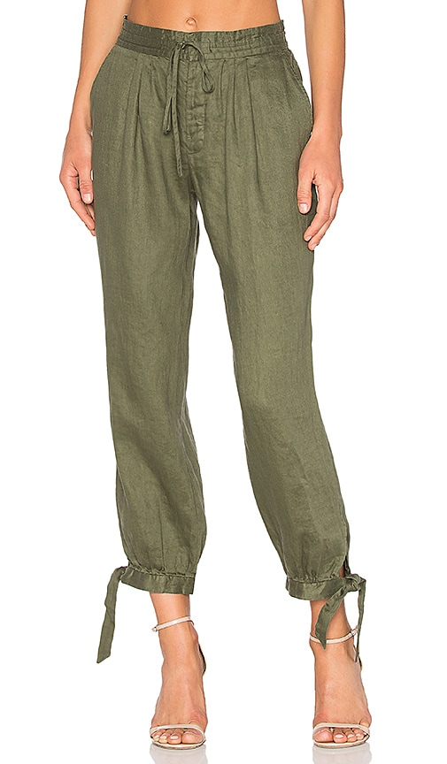 FRAME Denim Drawstring Pant in Army