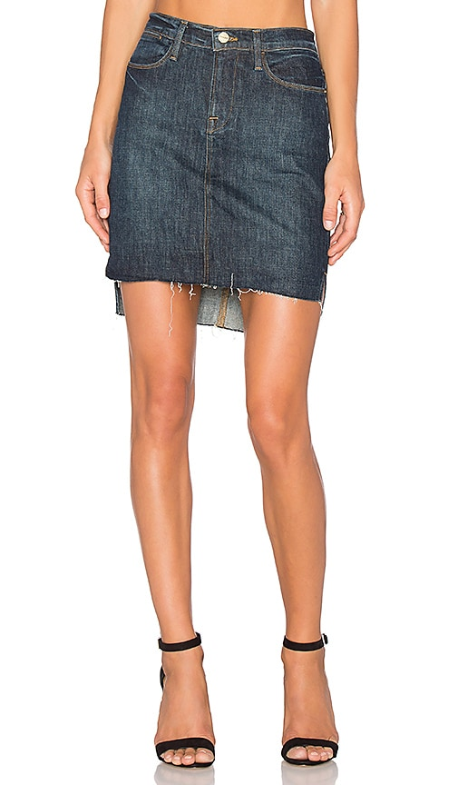 FRAME Denim Le Staggered Mini Skirt in Catamaran