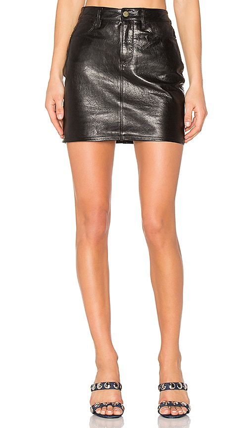 FRAME Denim Mini Skirt in Black