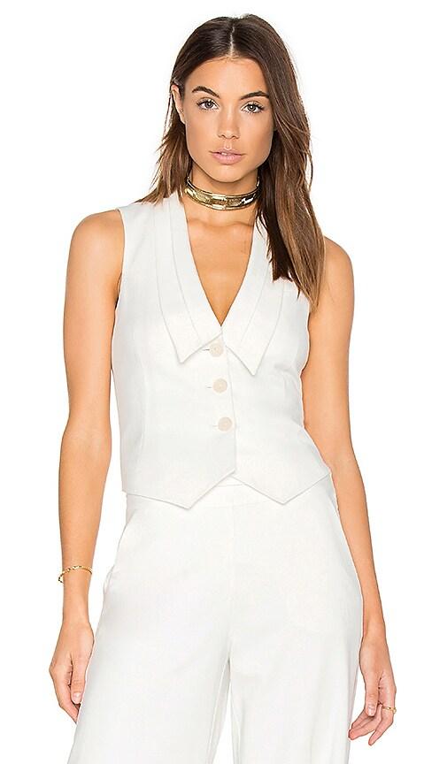 FRAME Denim Tux Vest in White