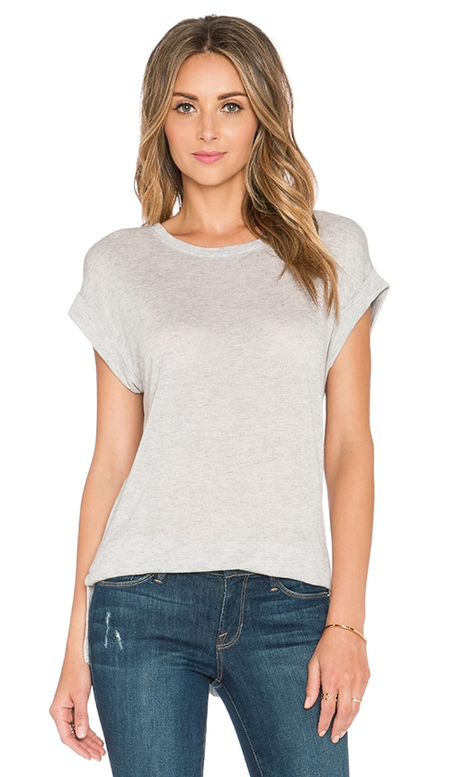 FRAME Denim Le Boyfriend Muscle Tee in Gris