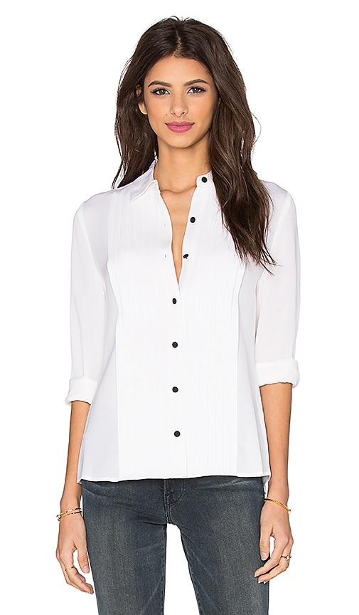 FRAME Denim Le Tuxedo Blouse in Blanc