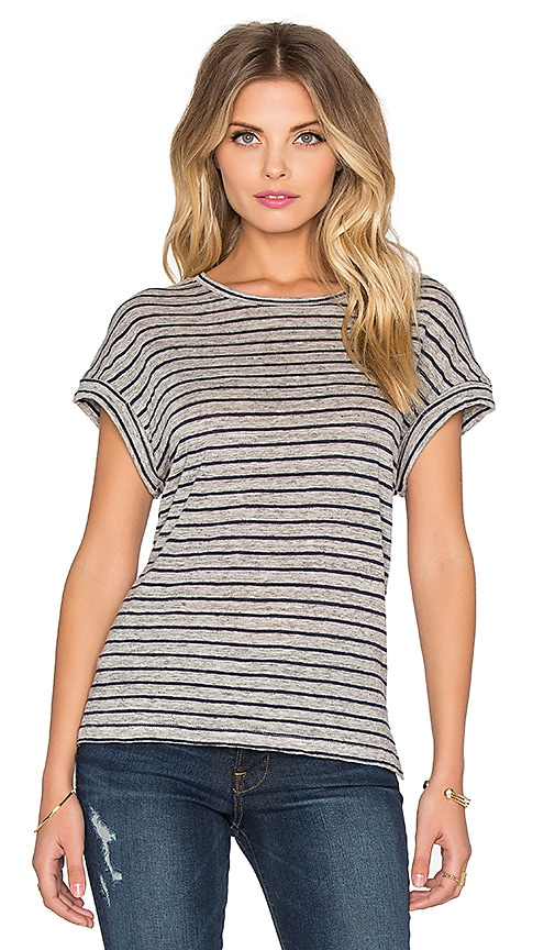 FRAME Denim Le Muscle Tee in Navy Stripe