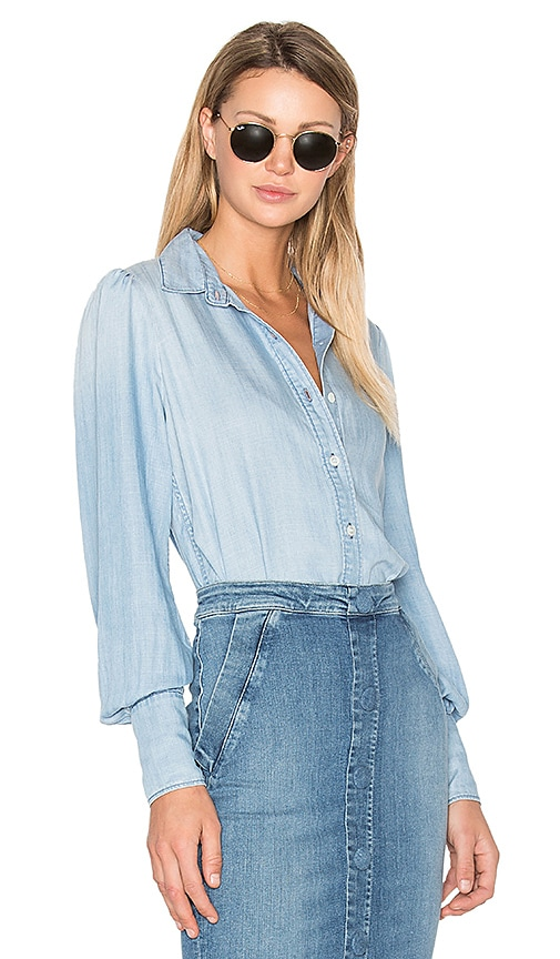 Denim Feminine Button Up