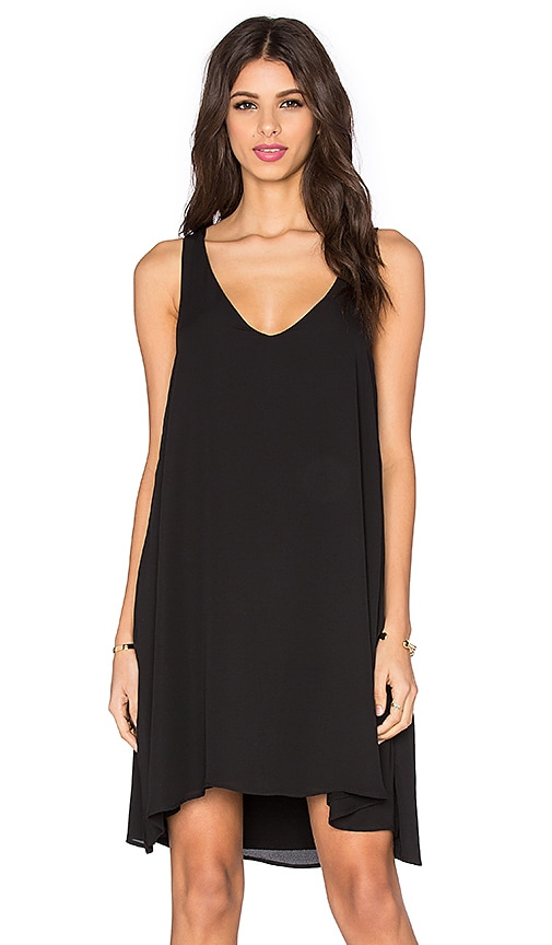 Feel the Piece Ithaca V Neck Tank Dress in Black
