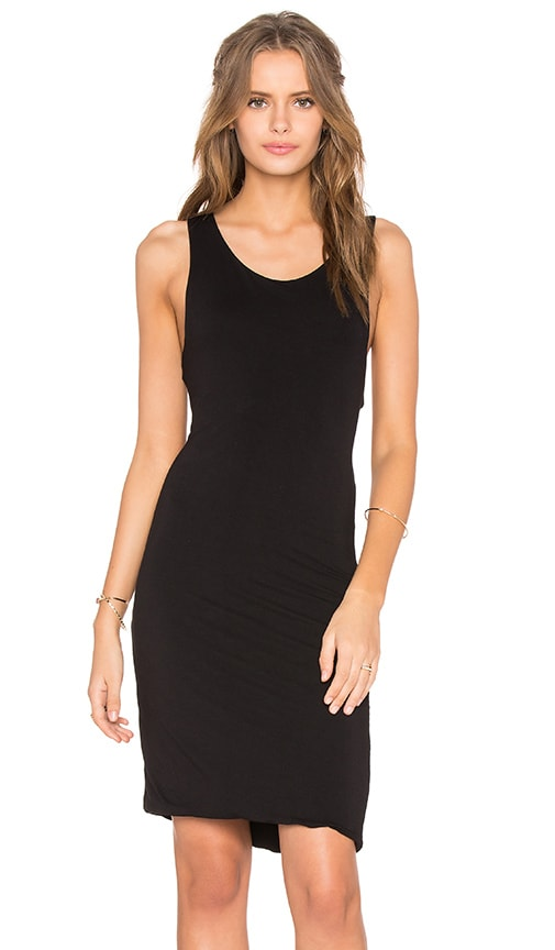 Feel the Piece Razor Tank Dress in Black