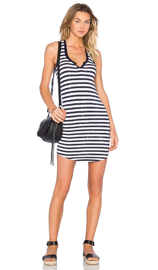 Feel the Piece Vincent Tank Dress in Navy White