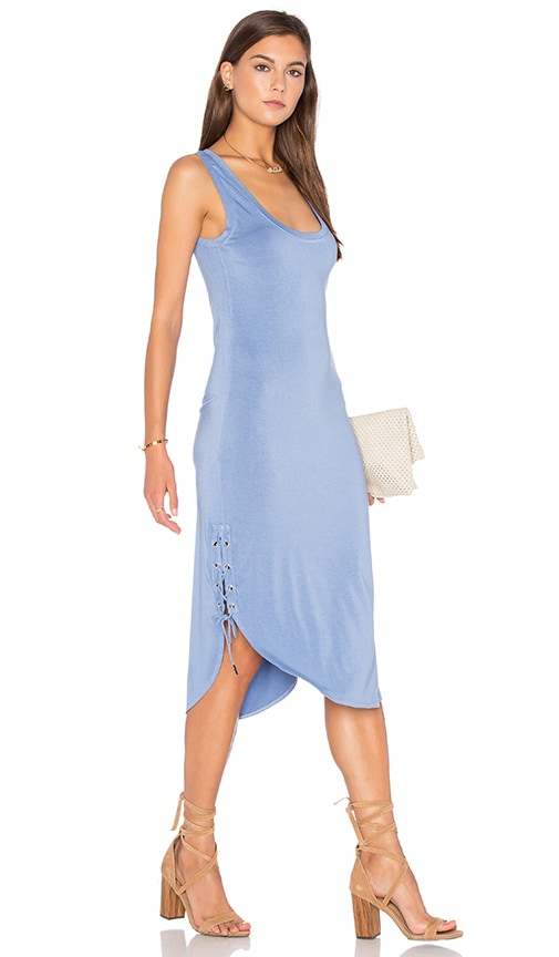 Feel the Piece Stance Tank Dress in Peri Blue