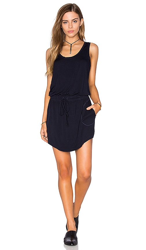 Feel the Piece Maier Tank Dress in Navy