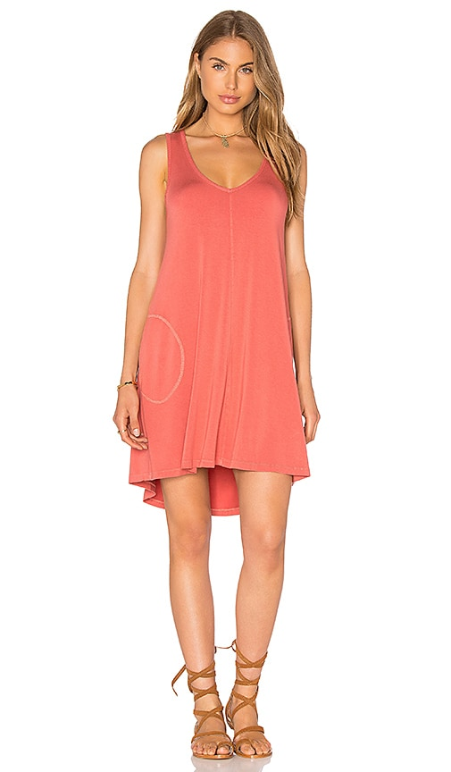 Feel the Piece Freebird Tank Mini Dress in Orange