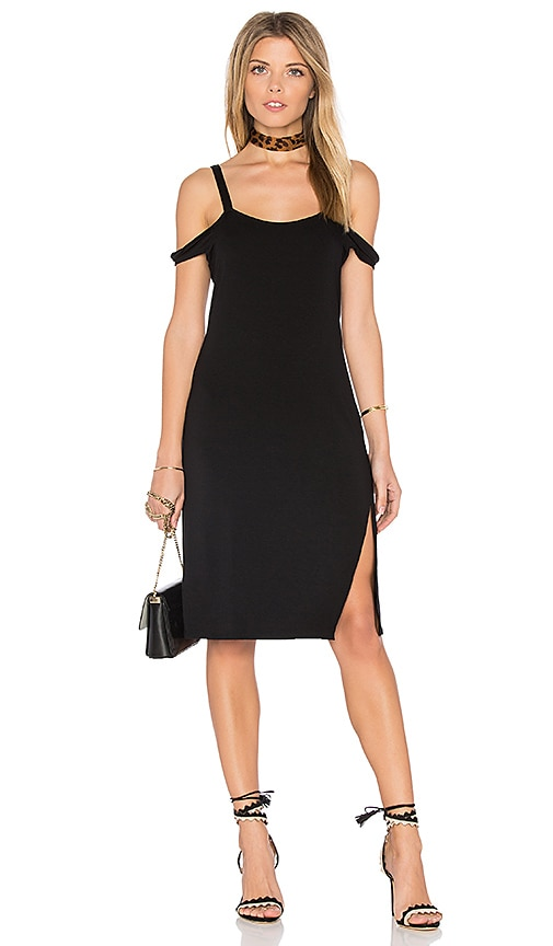 Feel the Piece Verkler Cold Shoulder Dress in Black