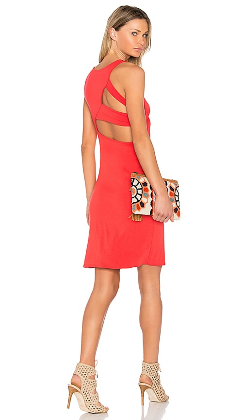 Feel the Piece Olympic Tank Dress in Red