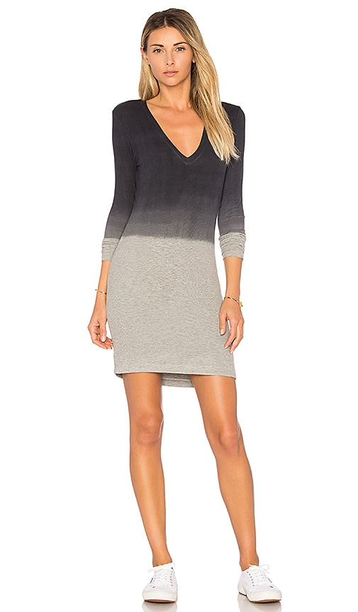 Feel the Piece Laurel V Neck Dress in Gray