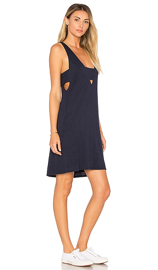 Feel the Piece Madison Cut Out Tank Dress in Navy