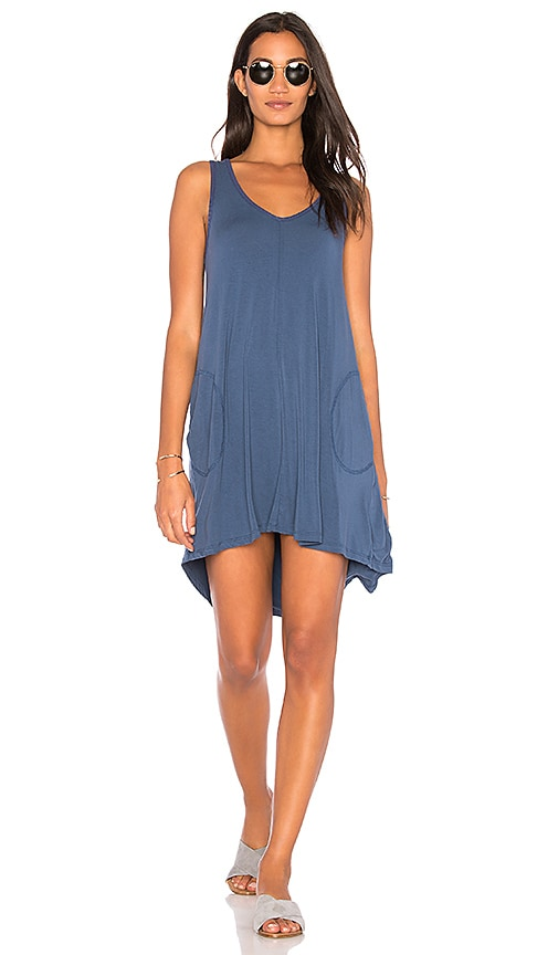 Feel the Piece Freebird Dress in Blue