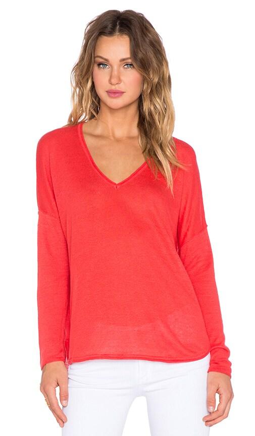 Feel the Piece Liza Sweater in Flamingo
