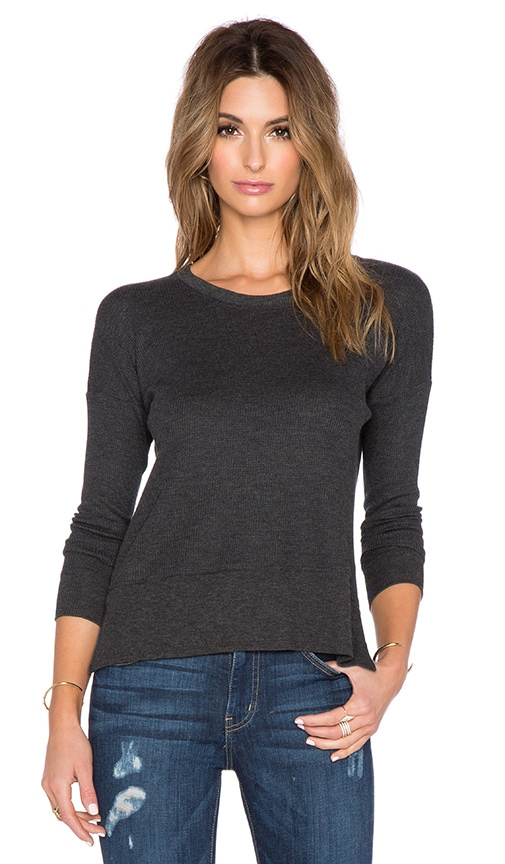 Feel the Piece May Crew Neck Sweater in Charcoal