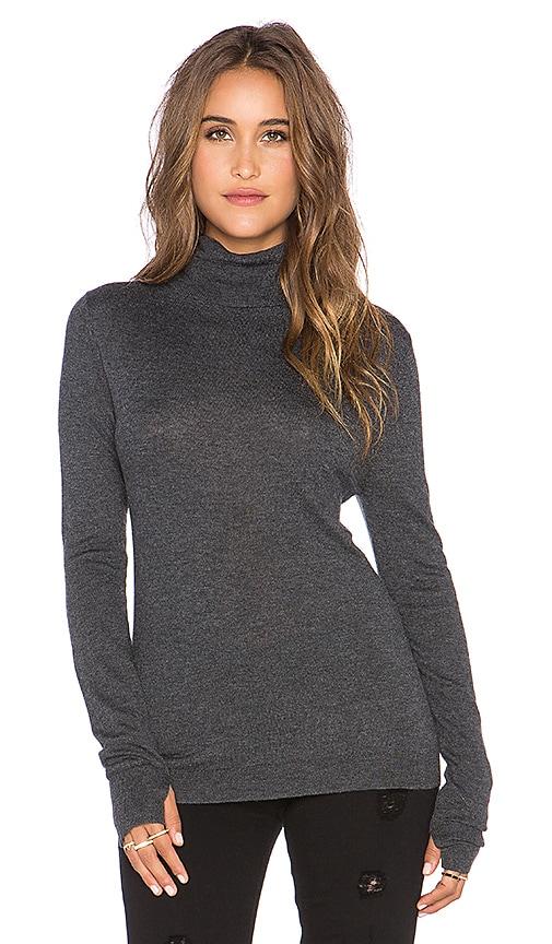 Feel the Piece Zeek Turtleneck Sweater in Charcoal Heather