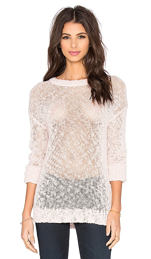 Feel the Piece Ameya Crew Neck Sweater in Pink