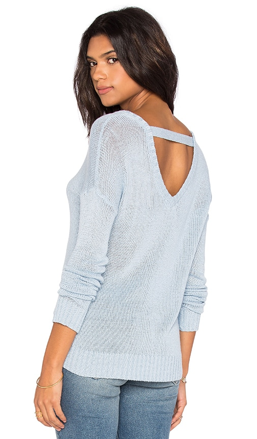 Feel the Piece Caribou Open back Sweater in Blue