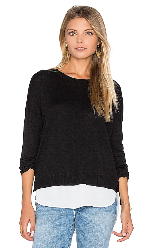 Feel the Piece Ann Sweater in Black