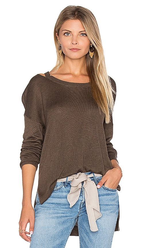 Feel the Piece Drew Sweater in Olive