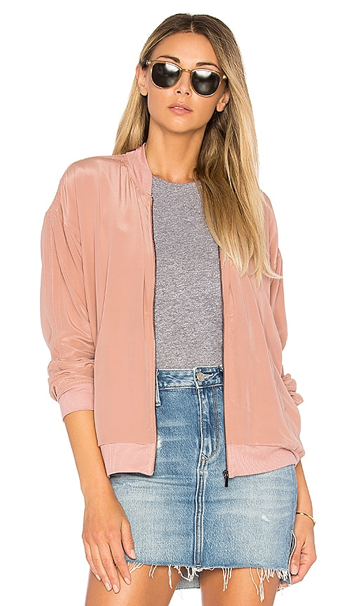 Feel the Piece Baxter Bomber in Rose