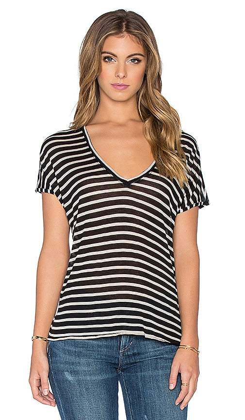 Feel the Piece Adriana Stripe Tee in Black