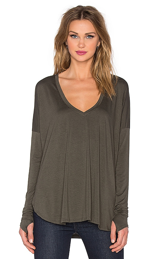 Feel the Piece Robin Top in Heather Forestine