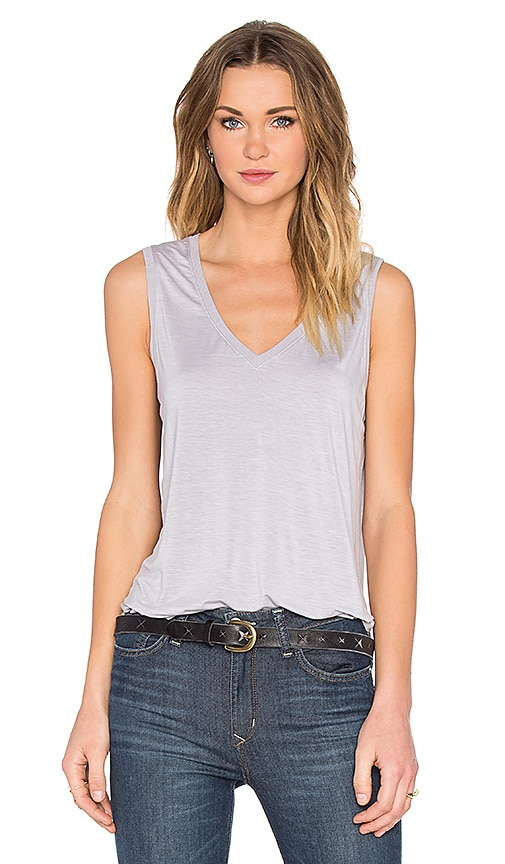 Feel the Piece Taura V-Neck Tank in Gray