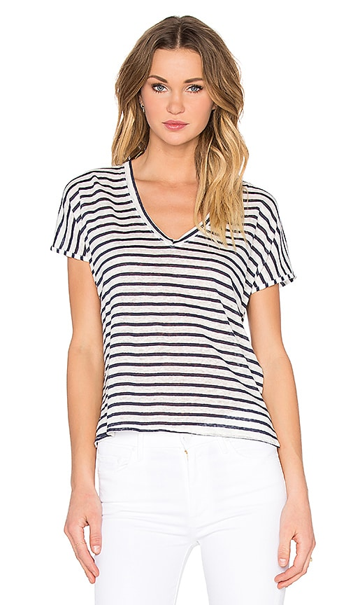 Feel the Piece Adriana Stripe Tee in Navy