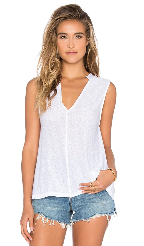 Feel the Piece Nairobi V Neck Tank in White