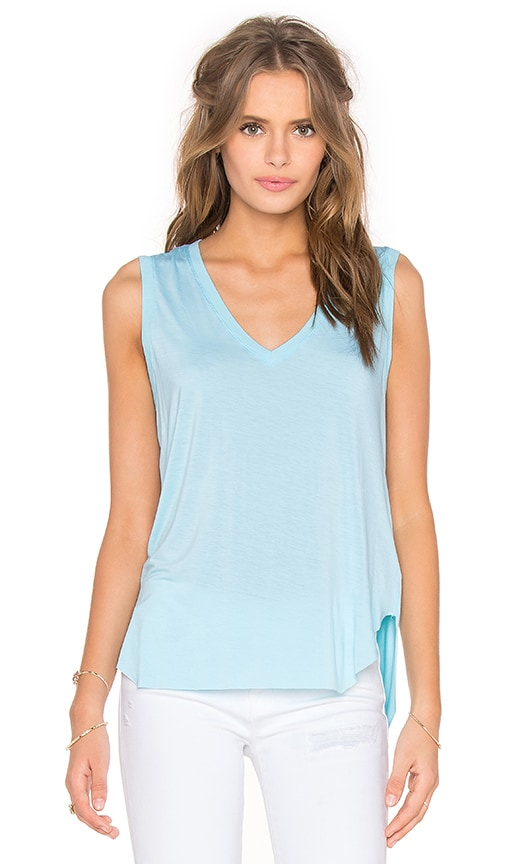 Feel the Piece Taura V-Neck Tank in Blue