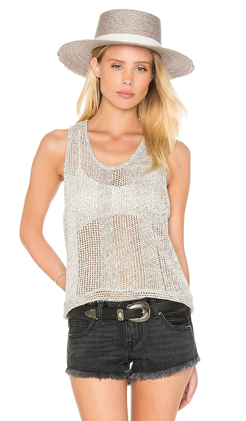 Feel the Piece Karen-O Tank in Natural Marl