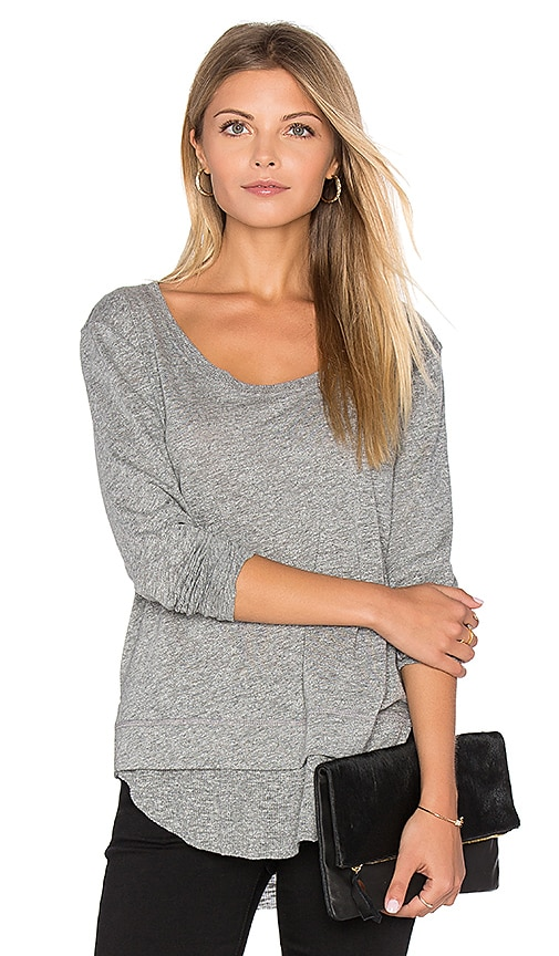 Feel the Piece Penelope Top in Gray