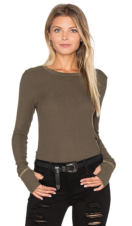 Feel the Piece Aida Top in Olive