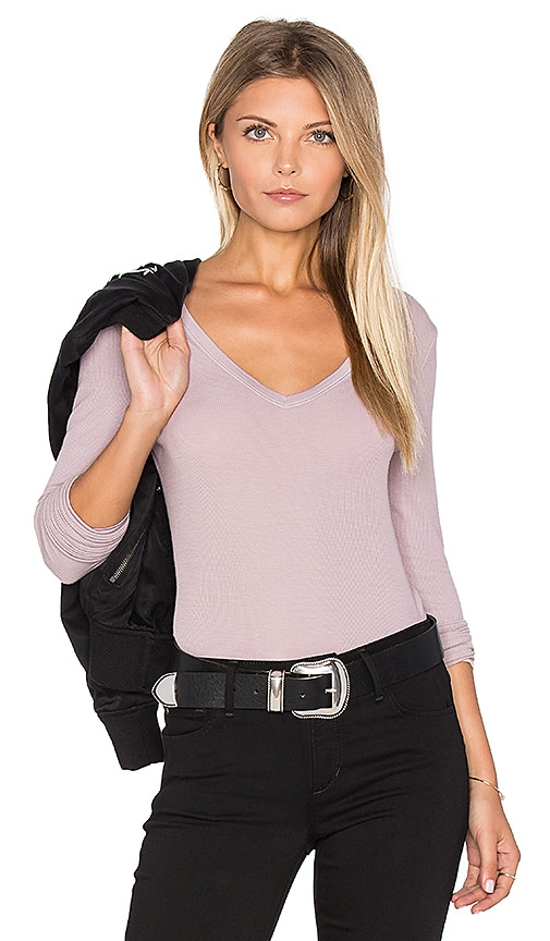 Feel the Piece Lucy Top in Mauve