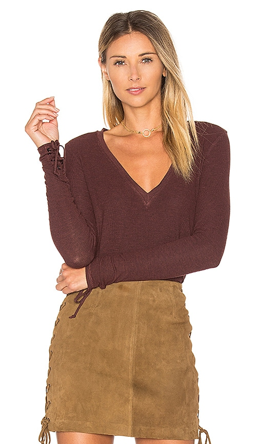 Feel the Piece Sifa Top in Burgundy