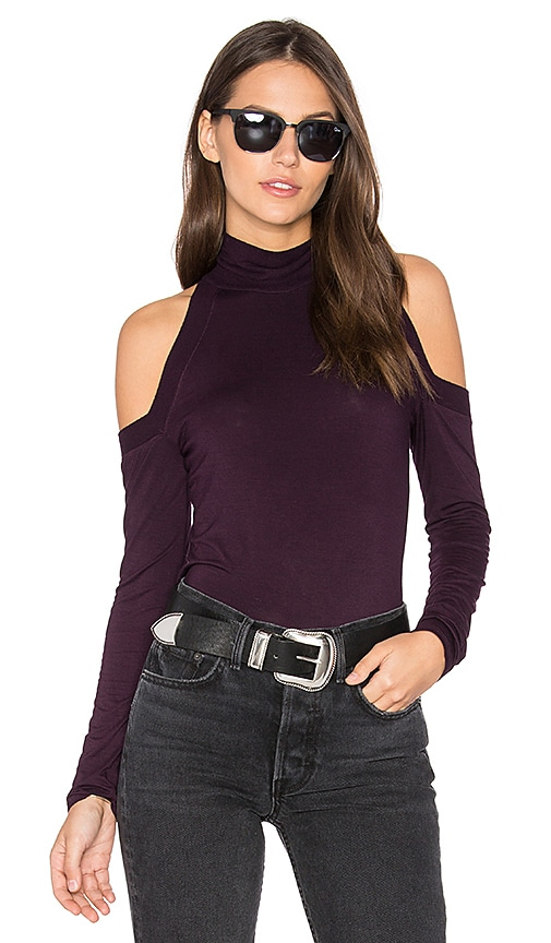 lovely Feel the Piece Gigi Top in Heather Berry - abratech