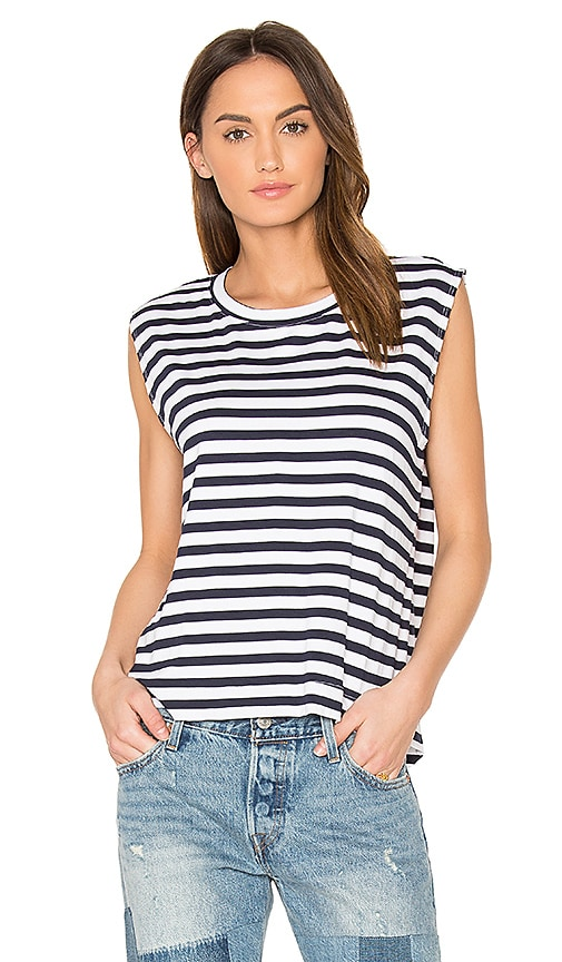 Feel the Piece Rumi Stripe Tee in Navy