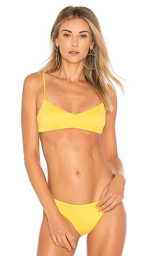 F E L L A Julius Bikini Top in Yellow