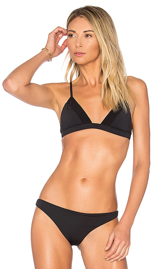F E L L A Lennox Bikini Top in Black