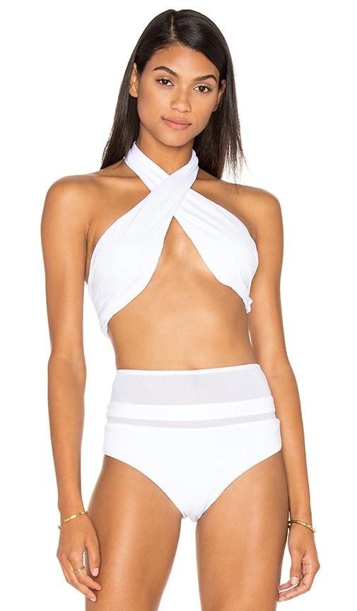 F E L L A Dylan Bikini Top in White