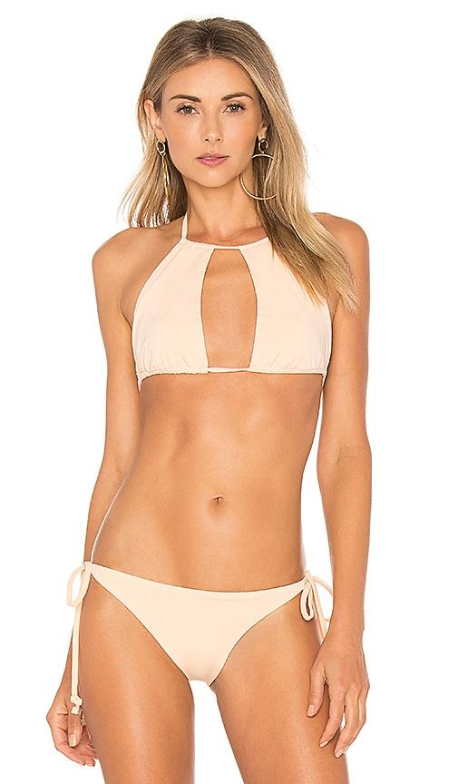 F E L L A Henry Bikini Top in Peach